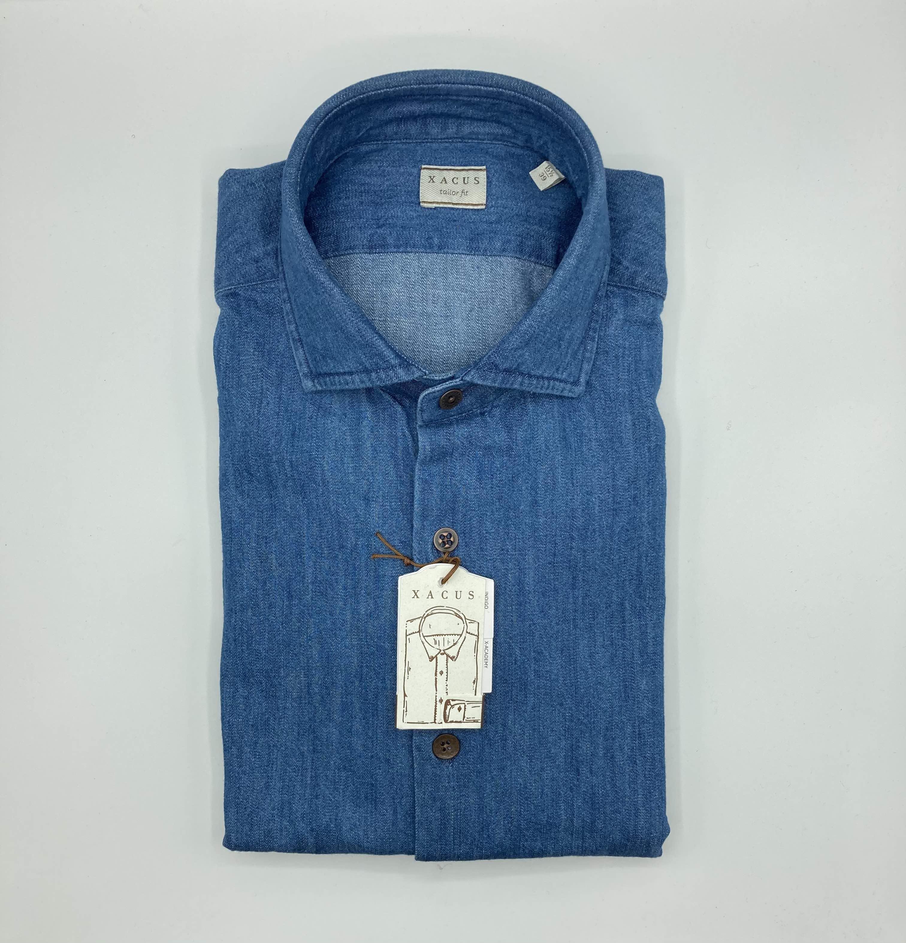 Camicia Xacus, denim pesante