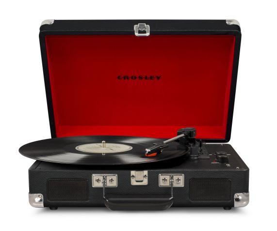 Crosley Cruiser Deluxe giradischi a valigetta nero con bluetooth IN e OUT