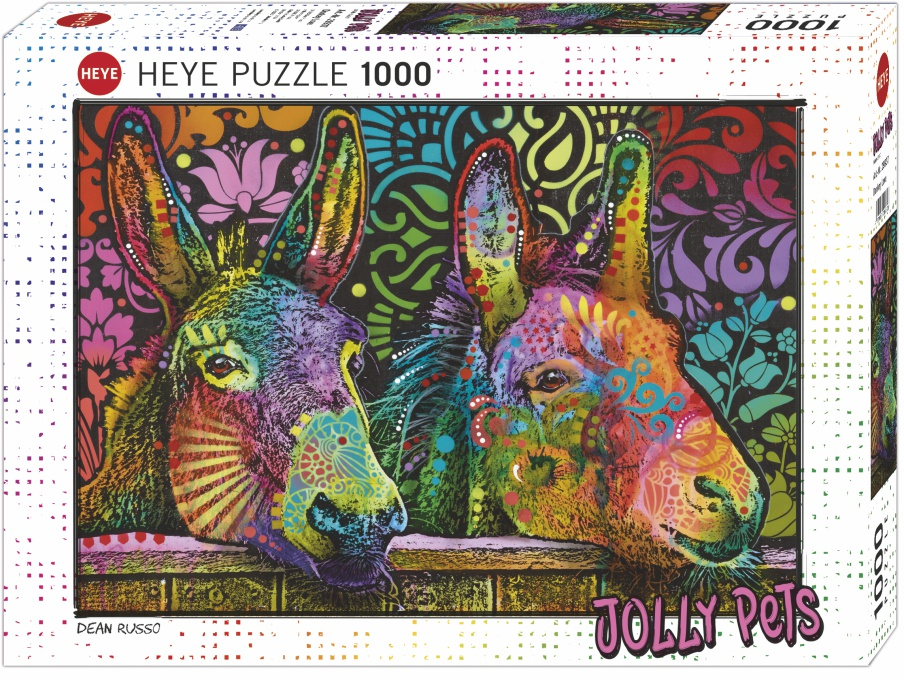 Puzzle 1000 pz-Jolly Pets Donkey Love