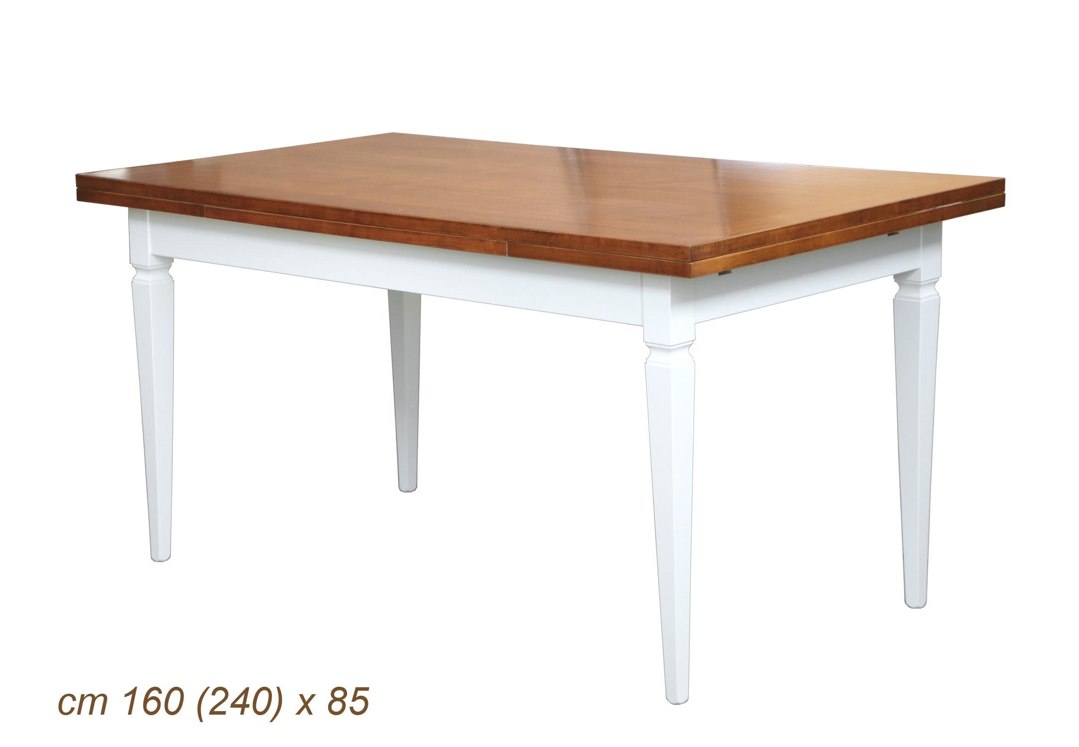 PROMO ! Table 160 x 85 à rallonges - Finition bicolore