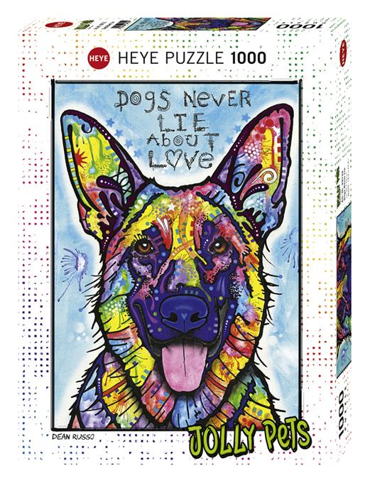 Heye 29732-Joòòy Pets puzzle 1000 pz Dogs  never lie
