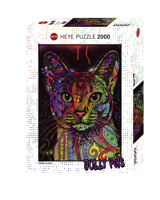 Heye 29810-Jolly Pets puzzle 2000 pz Abyssinian