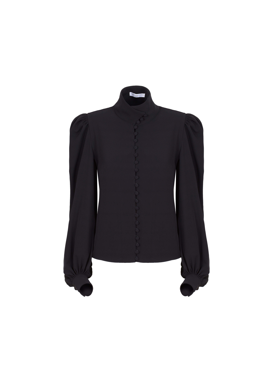 Camicia nera con bottoni davanti di MVP WARDROBE- Maria Vittoria Paolillo