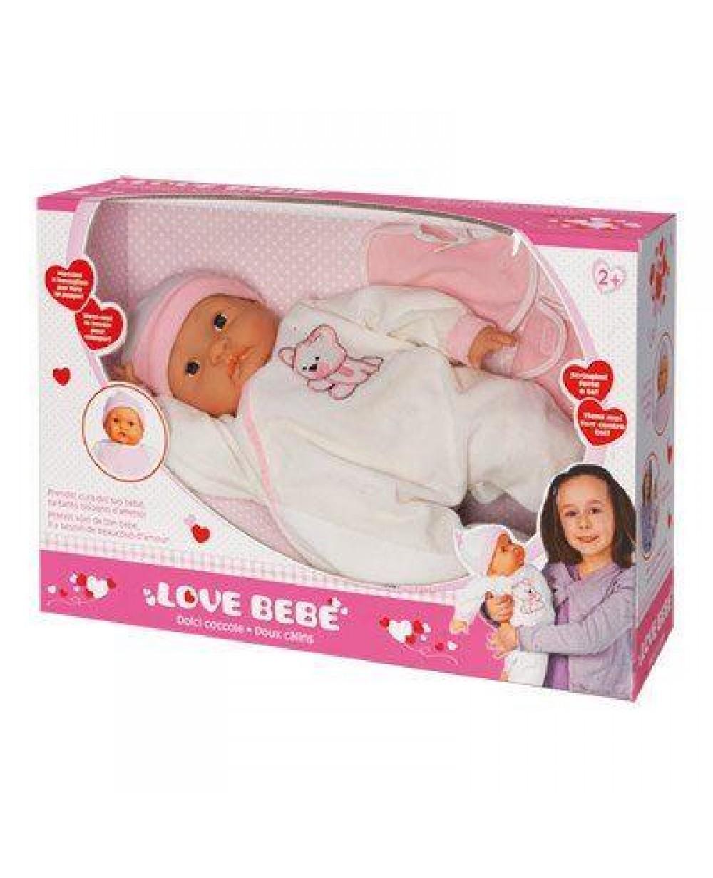 Love bebe bambola 46cm dolci coccole