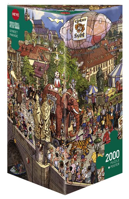 Heye 29926-Triangular puzzle 2000 pz Street Parade