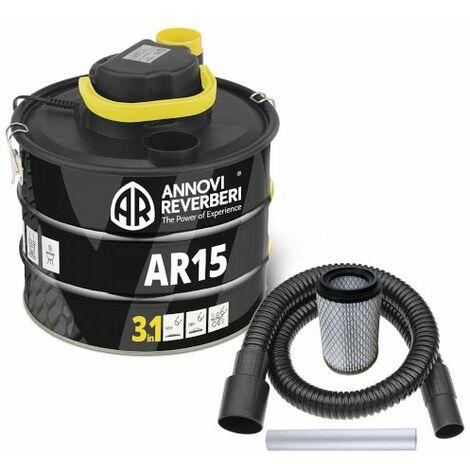 Bidone aspiracenere Annovi Reverberi AR15 ceneri fredde per stufe camini e barbecue