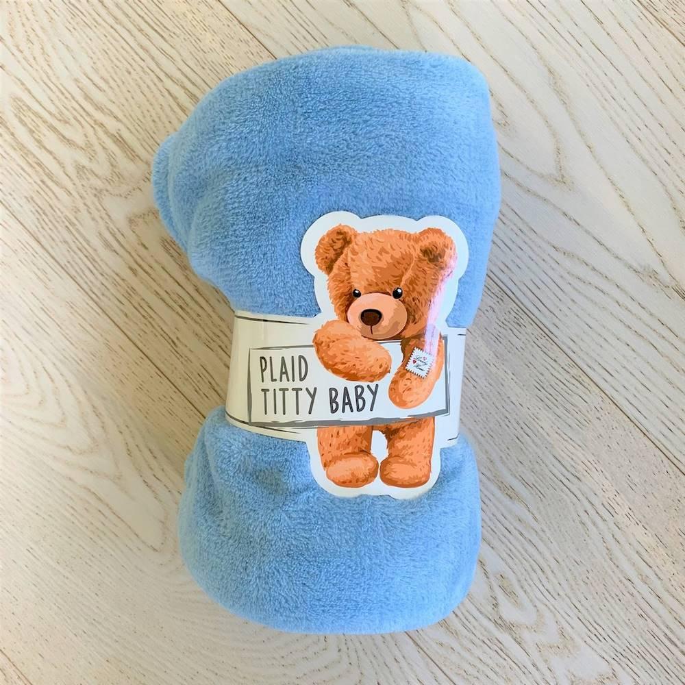 Plaid baby mezzastagione azzurro 100 x 140