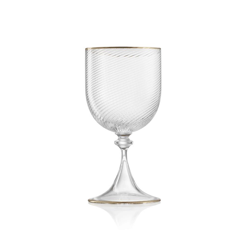 Calice Acqua 3/62 Cristallo Doppio Filo Oro