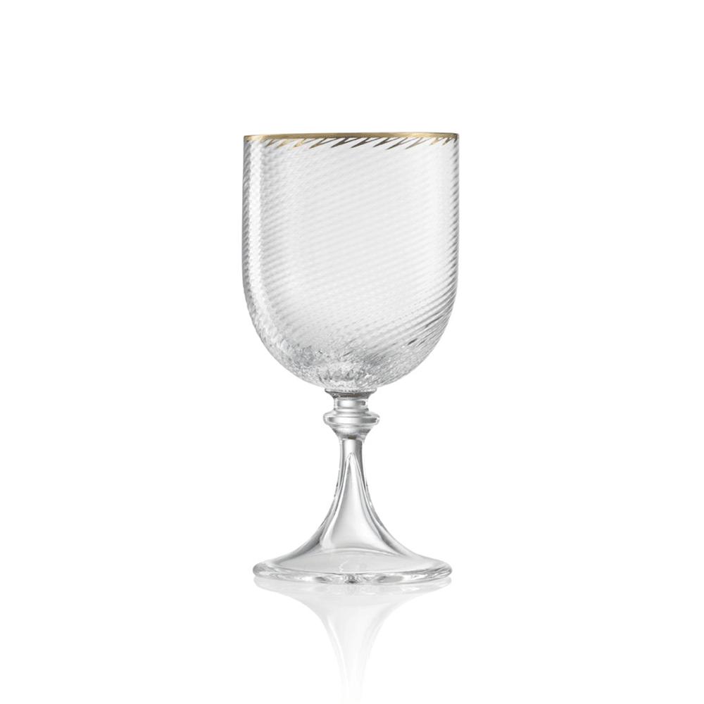 Calice Acqua3/62 Cristallo Filo Oro