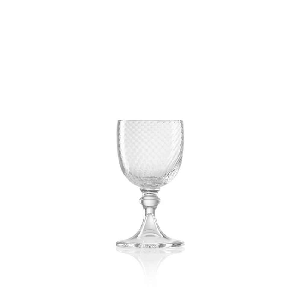 Calice Liquore 3/62 Rigadin Ritorto Cristallo