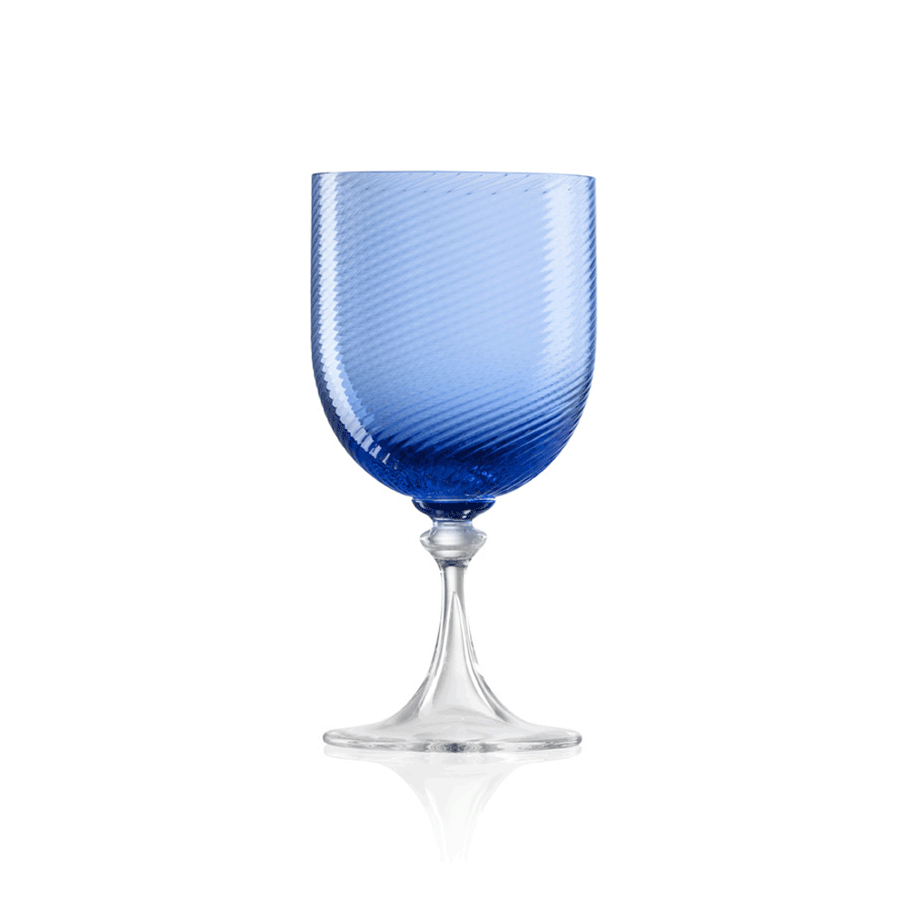 Calice Acqua 3/62 Rigadin Ritorto Blu