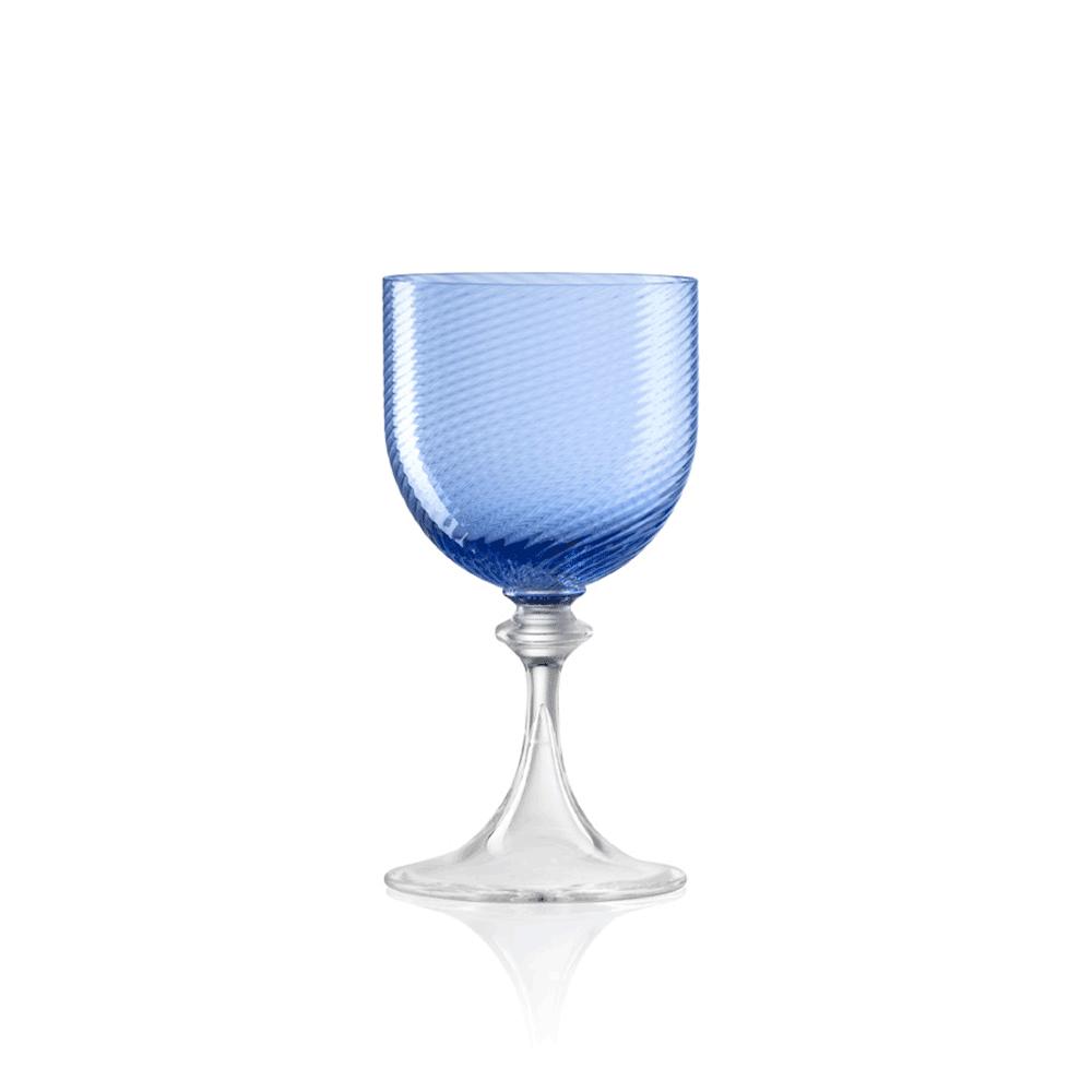 Calice Vino Bianco 3/62 Rigadin Ritorto Blu
