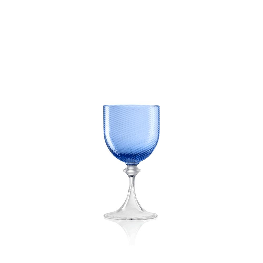 Calice Liquore 3/62 Rigadin Ritorto Blu