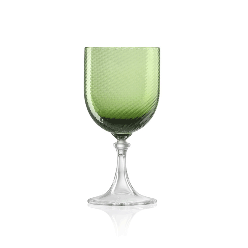 Calice Acqua 3/62 Rigadin Ritorto Verde Soraya