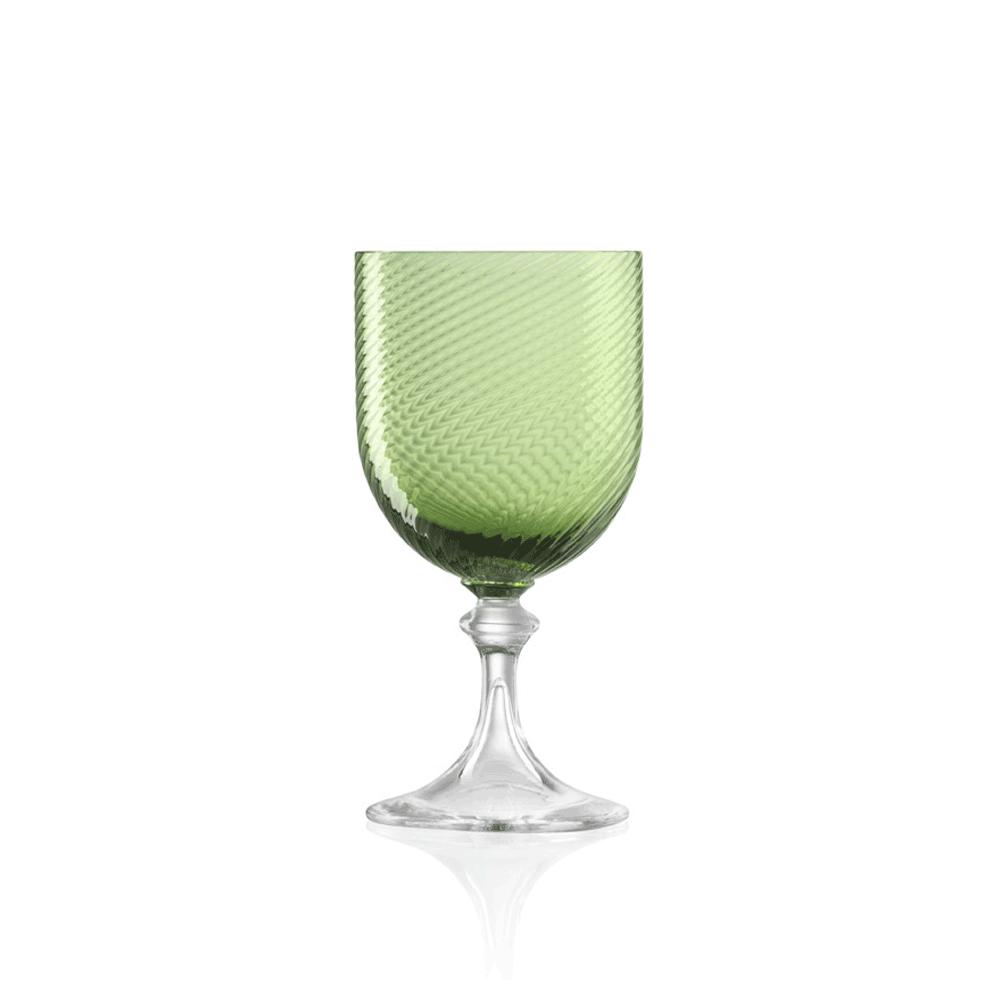 Calice Vino Bianco 3/62 Rigadin Ritorto Verde Soraya