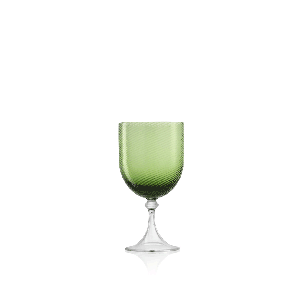 Calice Liquore 3/62 Rigadin Ritorto Verde Soraya