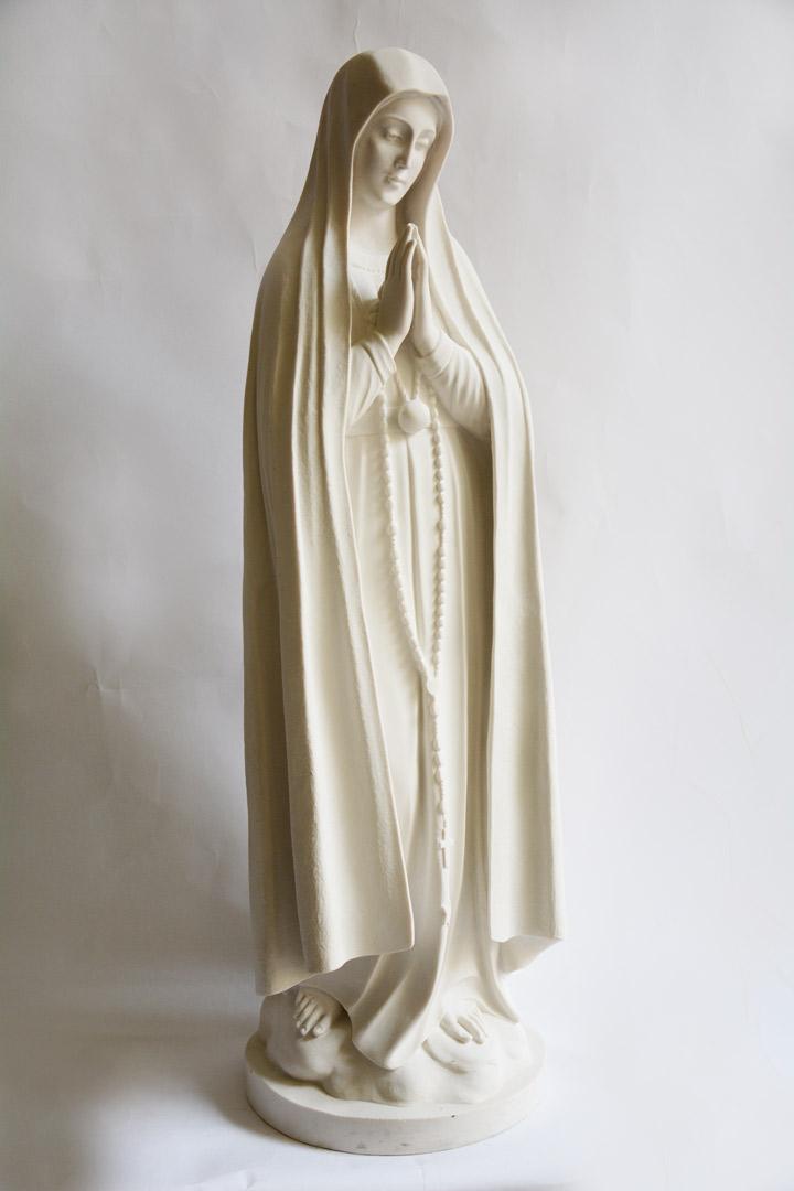 Statua Madonna di Fatima in Polvere di Marmo cm 83