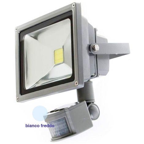 Faro LED 35 W con Sensore Crepuscolare Freddo Esterno
