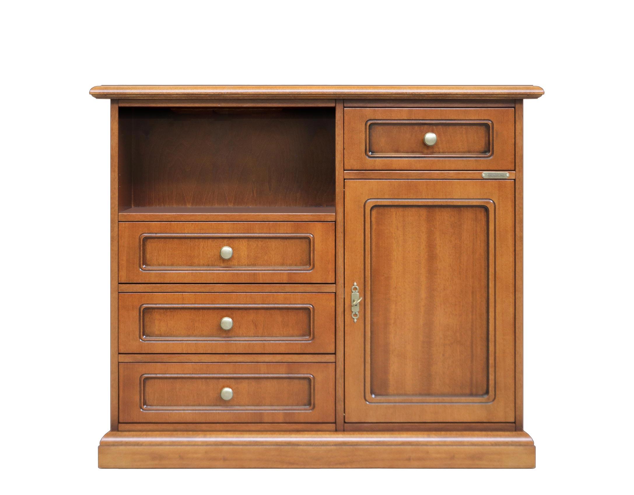 Mueble de TV - madera - 4 cajones 1 puerta