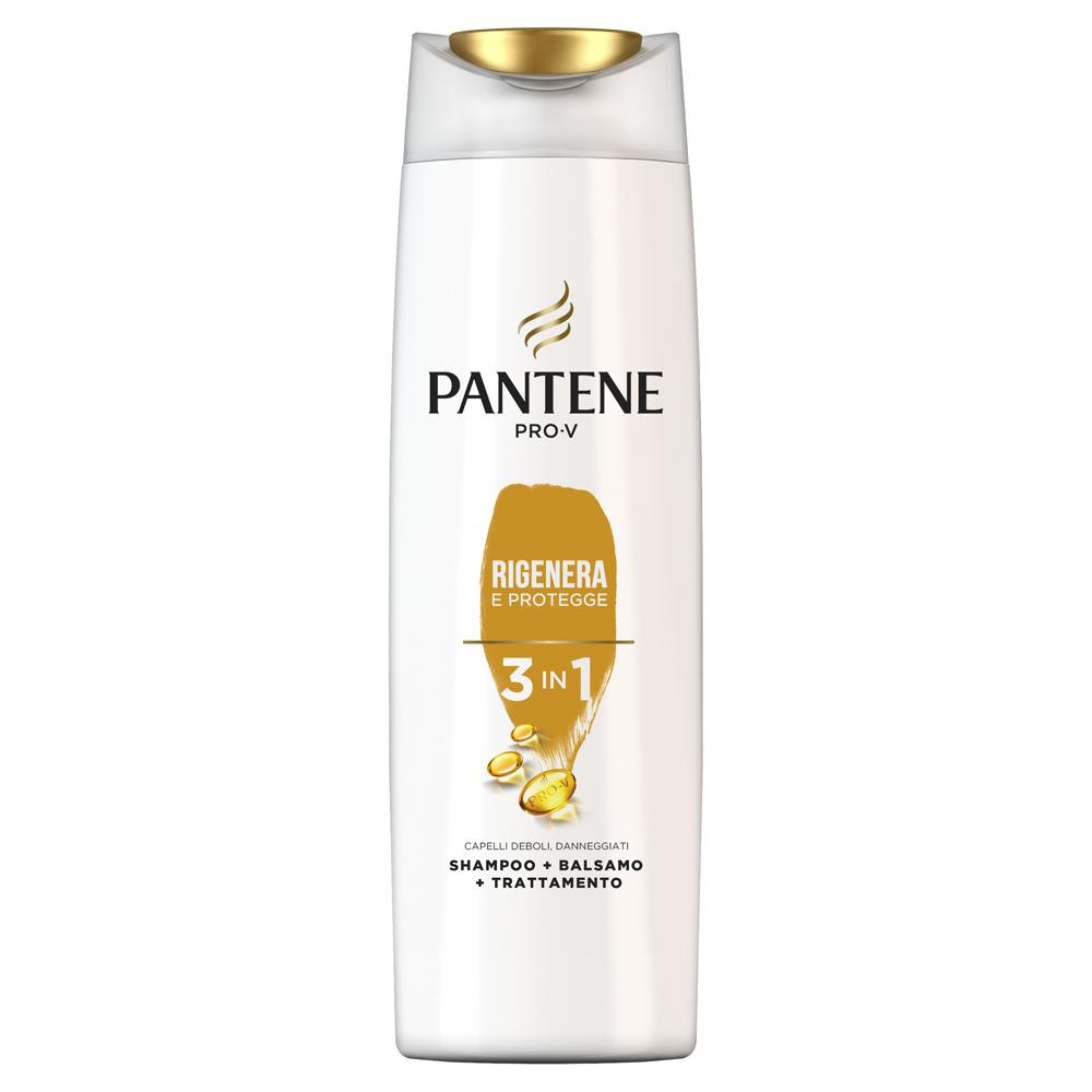 PANTENE Shampoo + Balsamo Rigenera e Protegge 3 in 1 225 ml