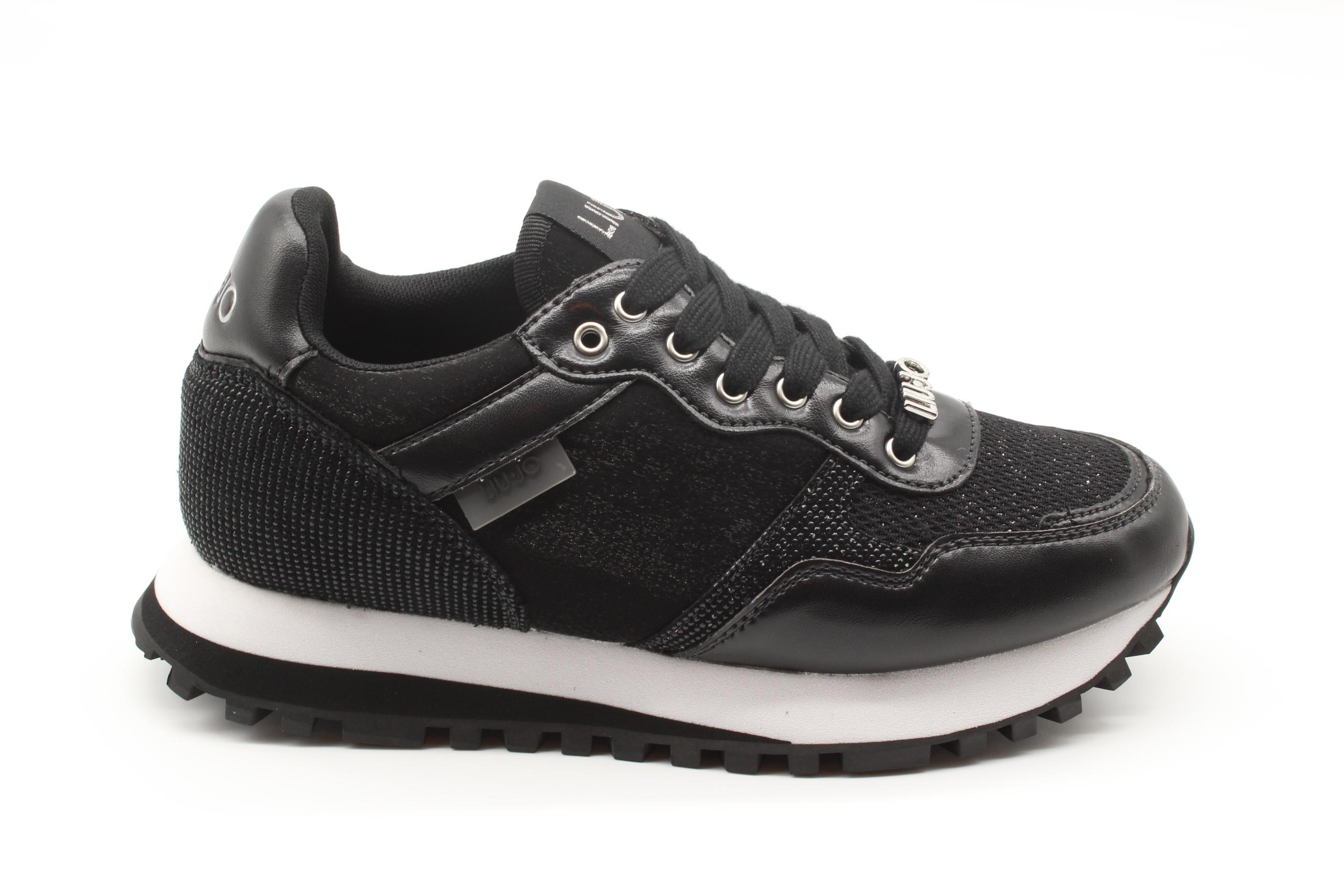Liu Jo Sneakers nere in mesh lamé