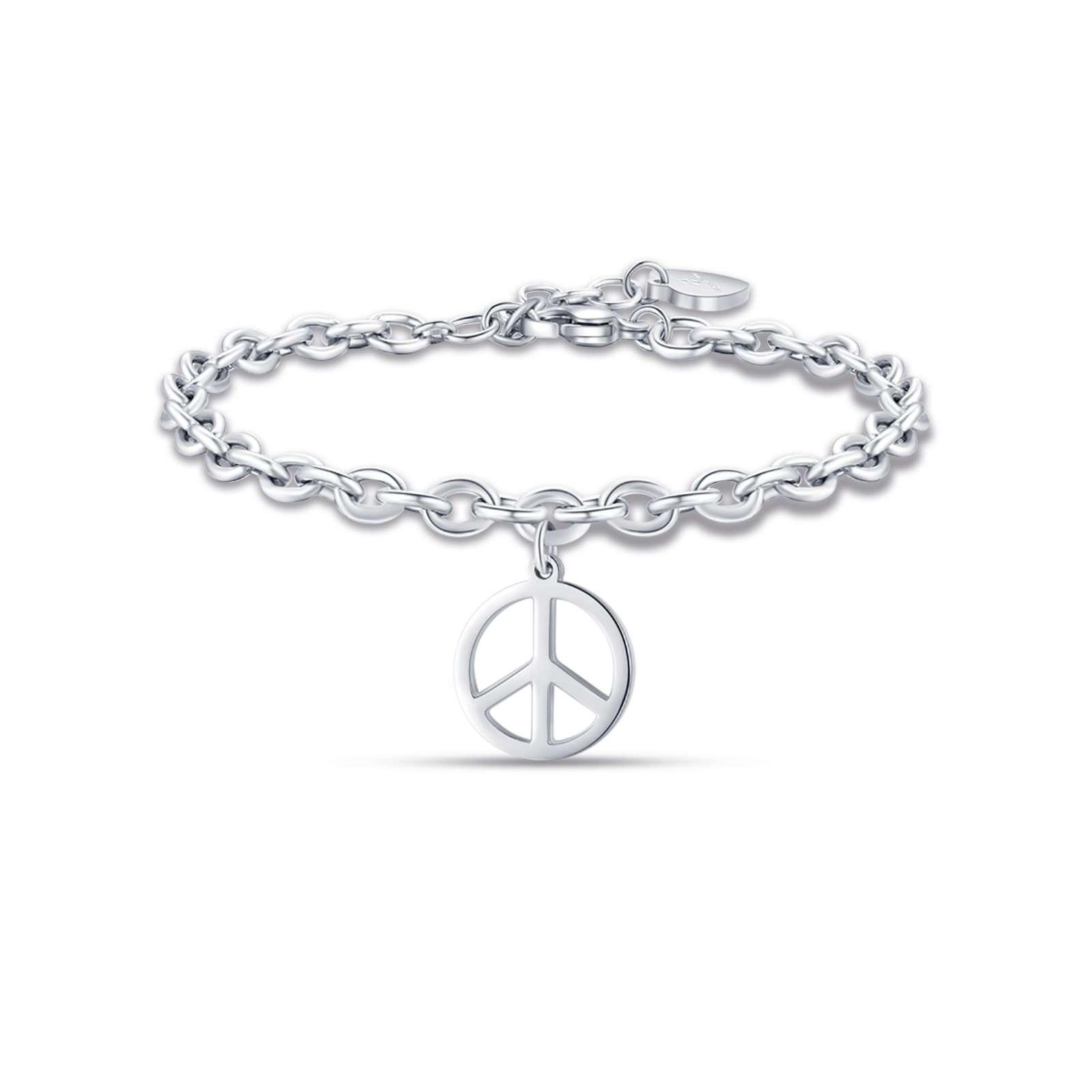 Luca Barra - Bracciale in acciaio con simbolo pace