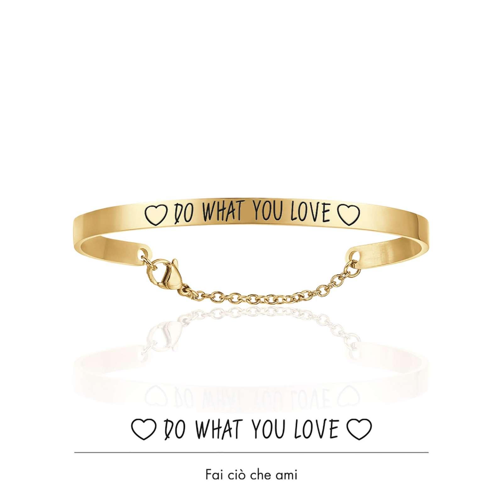 Luca Barra - Bracciale in acciaio gold do what you love