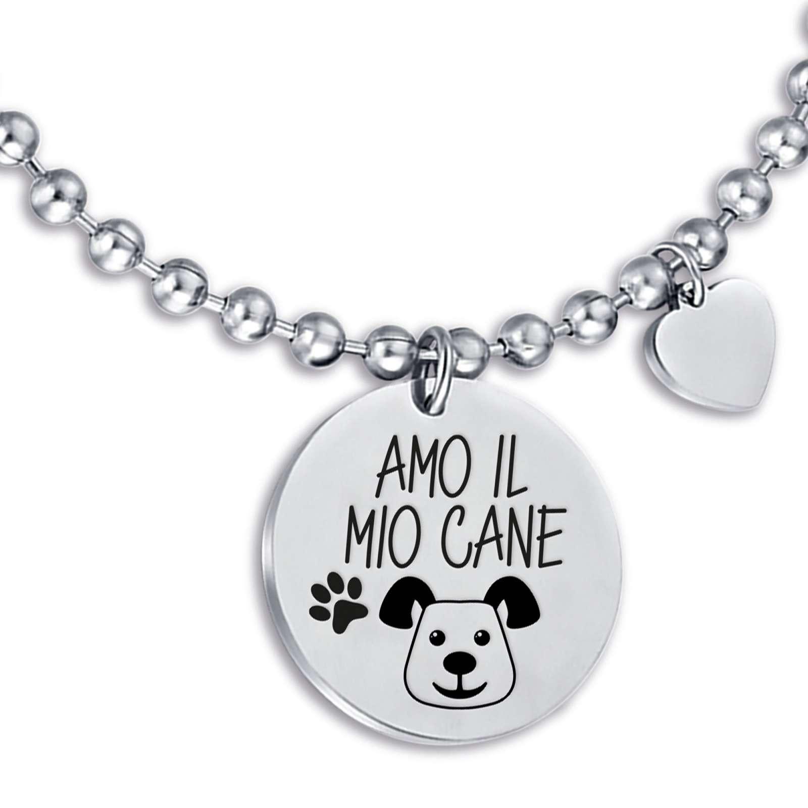 Luca Barra - Bracciale in acciaio amo il mio cane