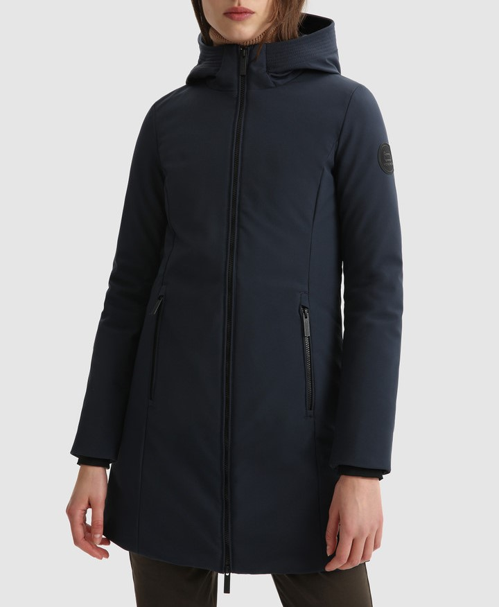 Giacca donna WOOLRICH FIRTH PARKA melton blue