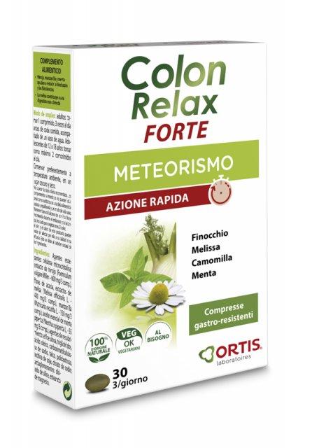 COLON RELAX FORTE 30 COMPRESSE PER METEORISMO AZIONE RAPIDA CON FINOCCHIO, MELISSA, CAMOMILLA, MENTA.