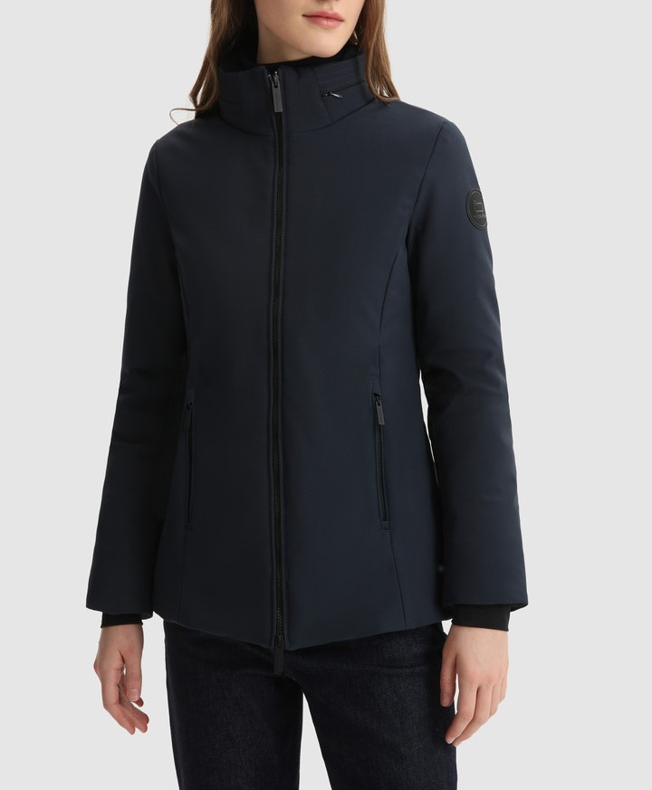 Giacca donna WOOLRICH FIRTH COAT MELTON BLUE
