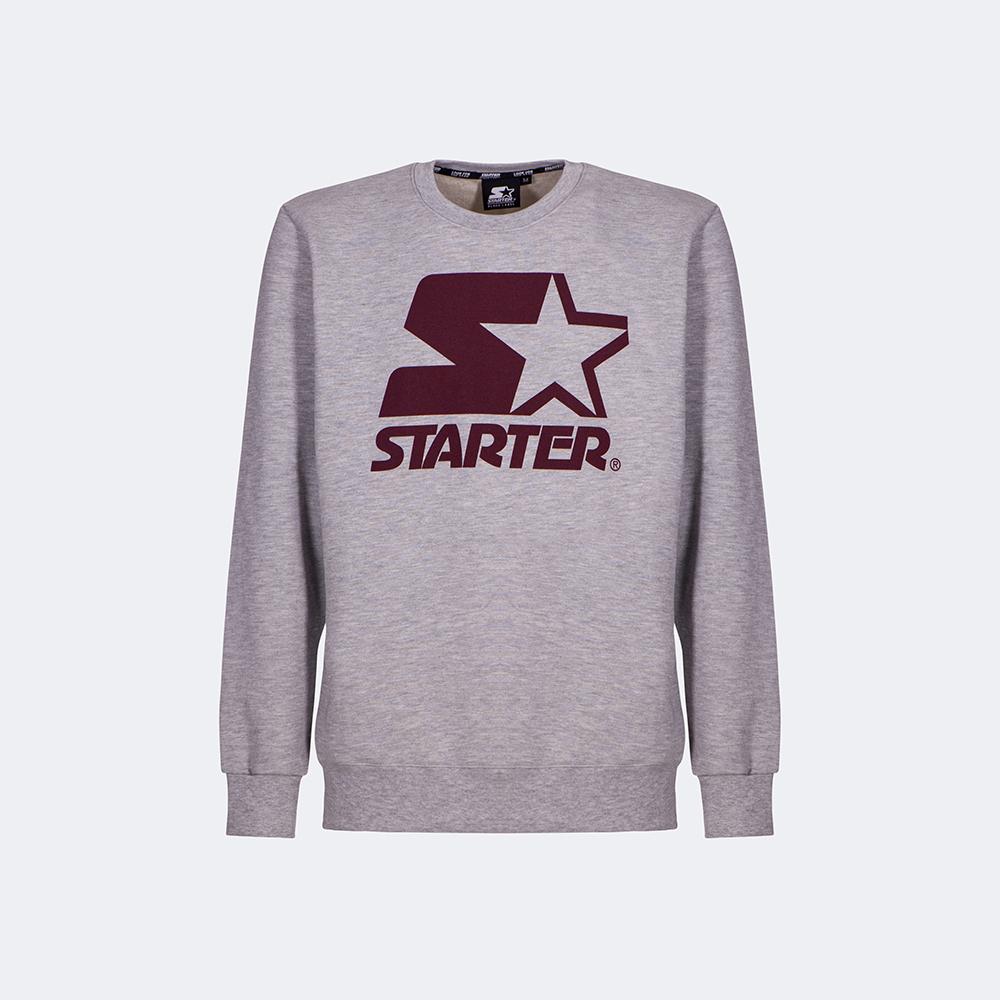 FELPA INVERNALE ICONIC STARTER ® UOMO-GRIGIO BORDEAUX