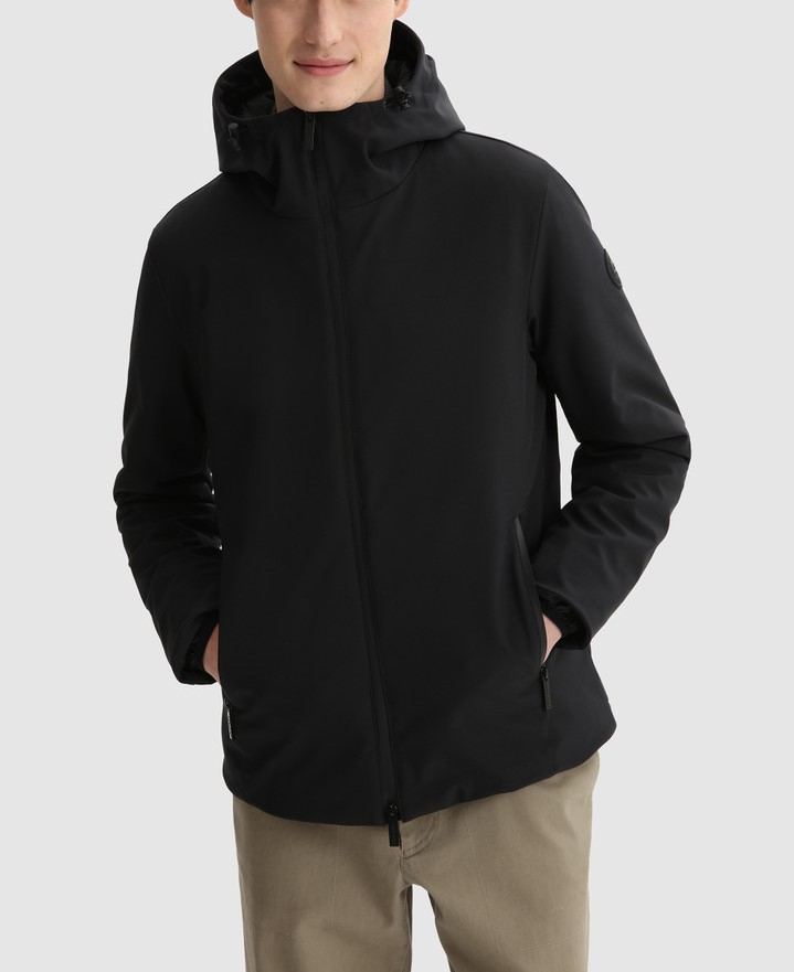Giacca uomo WOOLRICH PACIFIC IN SOFT SHELL BLACK