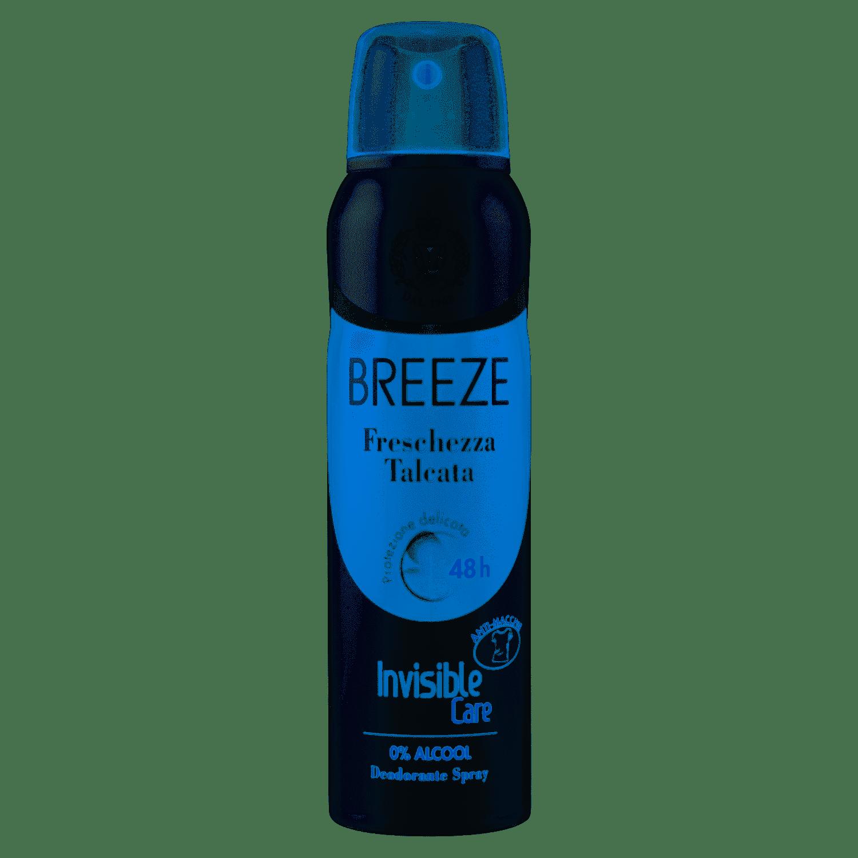 BREEZE Freschezza Talcata Invisible Care deodorante spray da 150ml