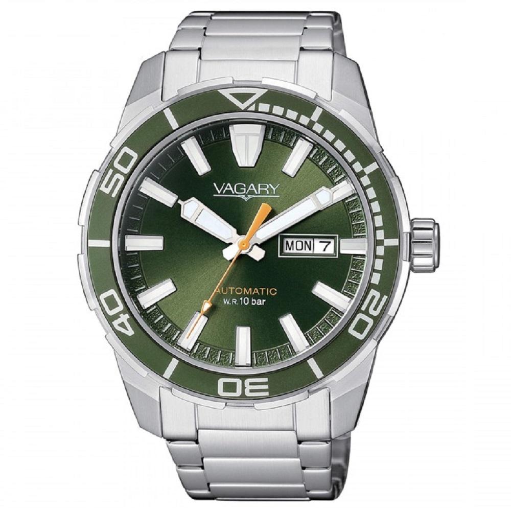Vagary Acqua 39, Orologio Automatic, Quadrante verde