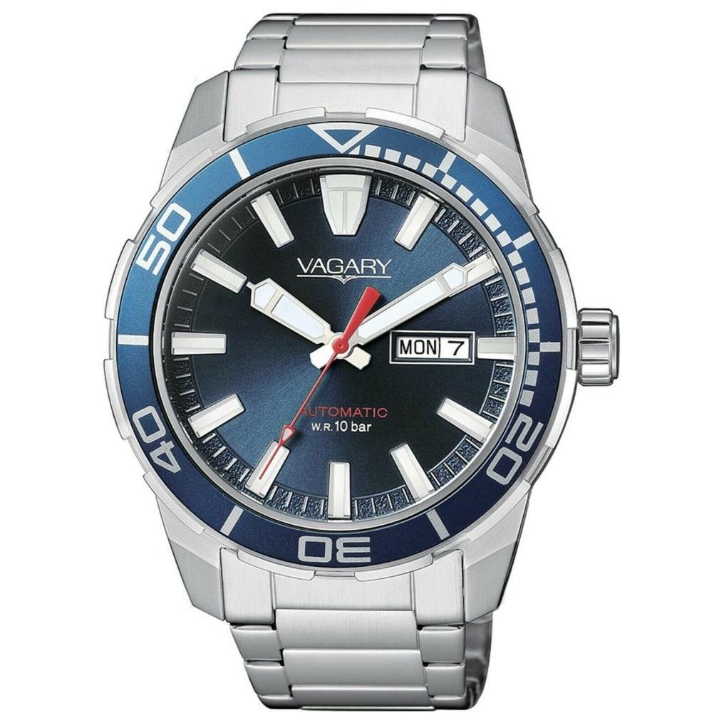 Vagary Acqua 39, Orologio Automatic, Quadrante blu