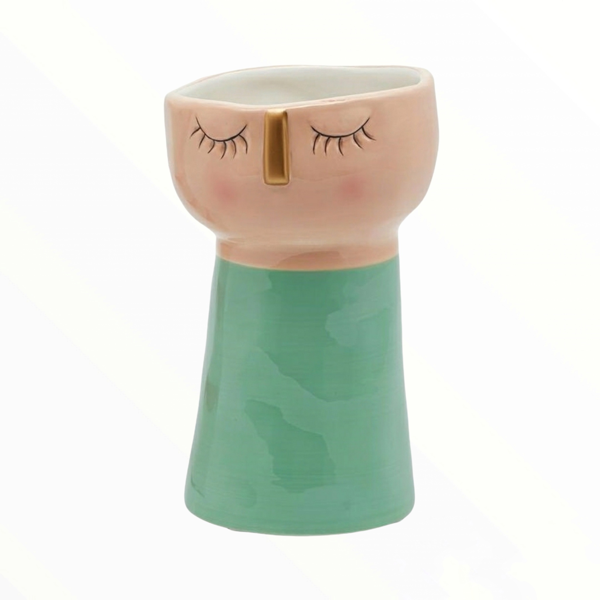 Vaso ceramica viso verde