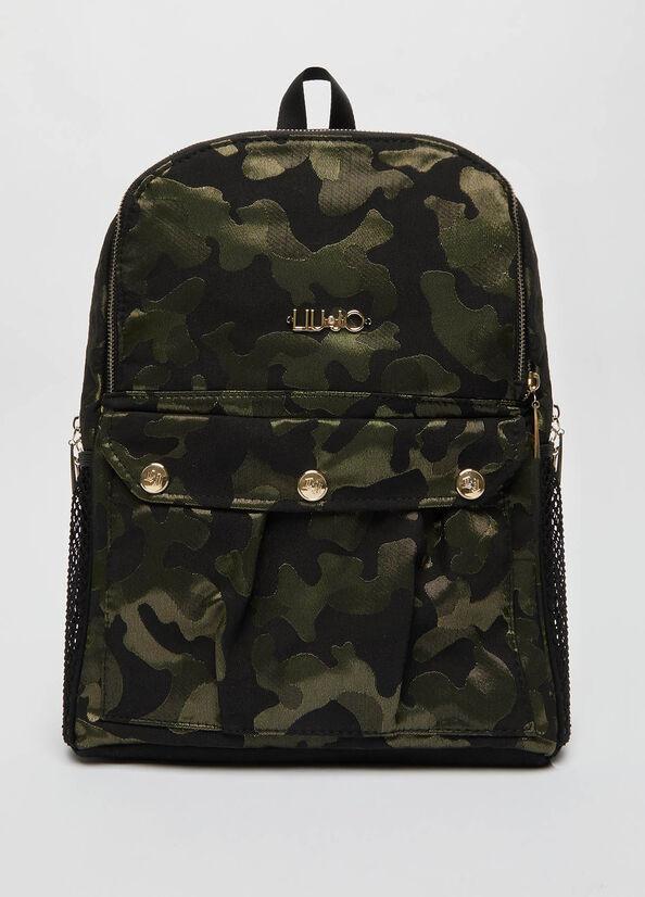 LIU JO TF1174T0300 Zaino jacquard camouflage