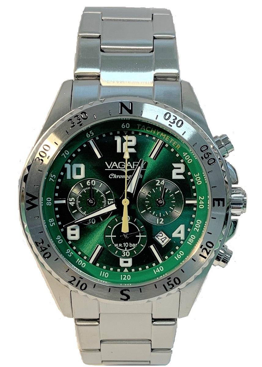 Vagary Explore Orologio Cronografo Quadrante verde