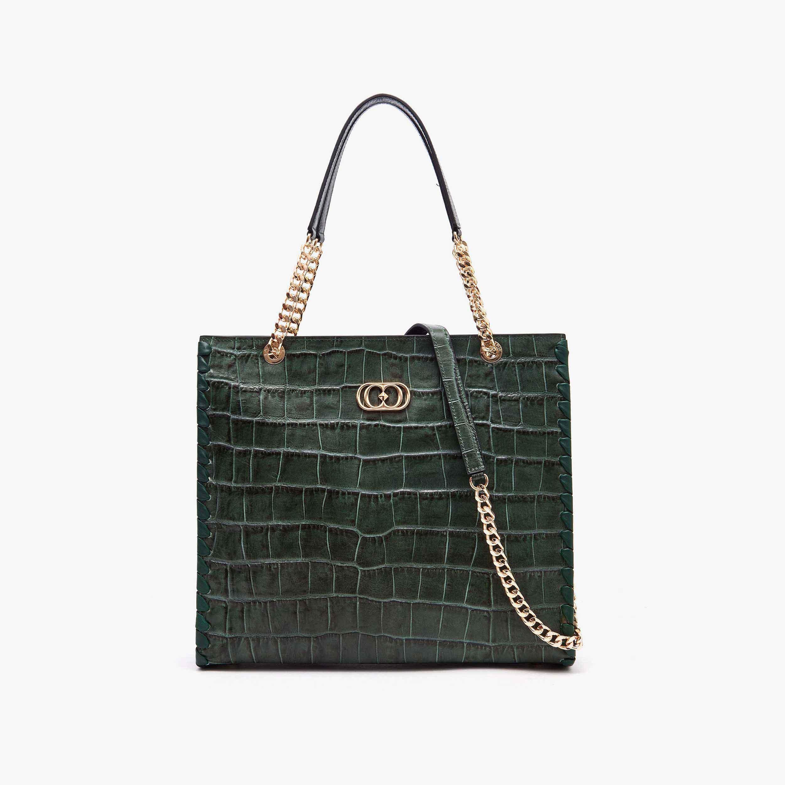La Carrie Borsa shopping Nilo Verde