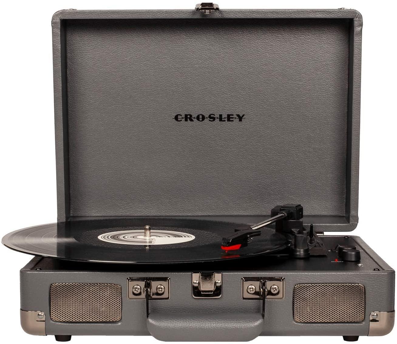Crosley Cruiser Deluxe giradischi a valigetta color ardesia con bluetooth IN