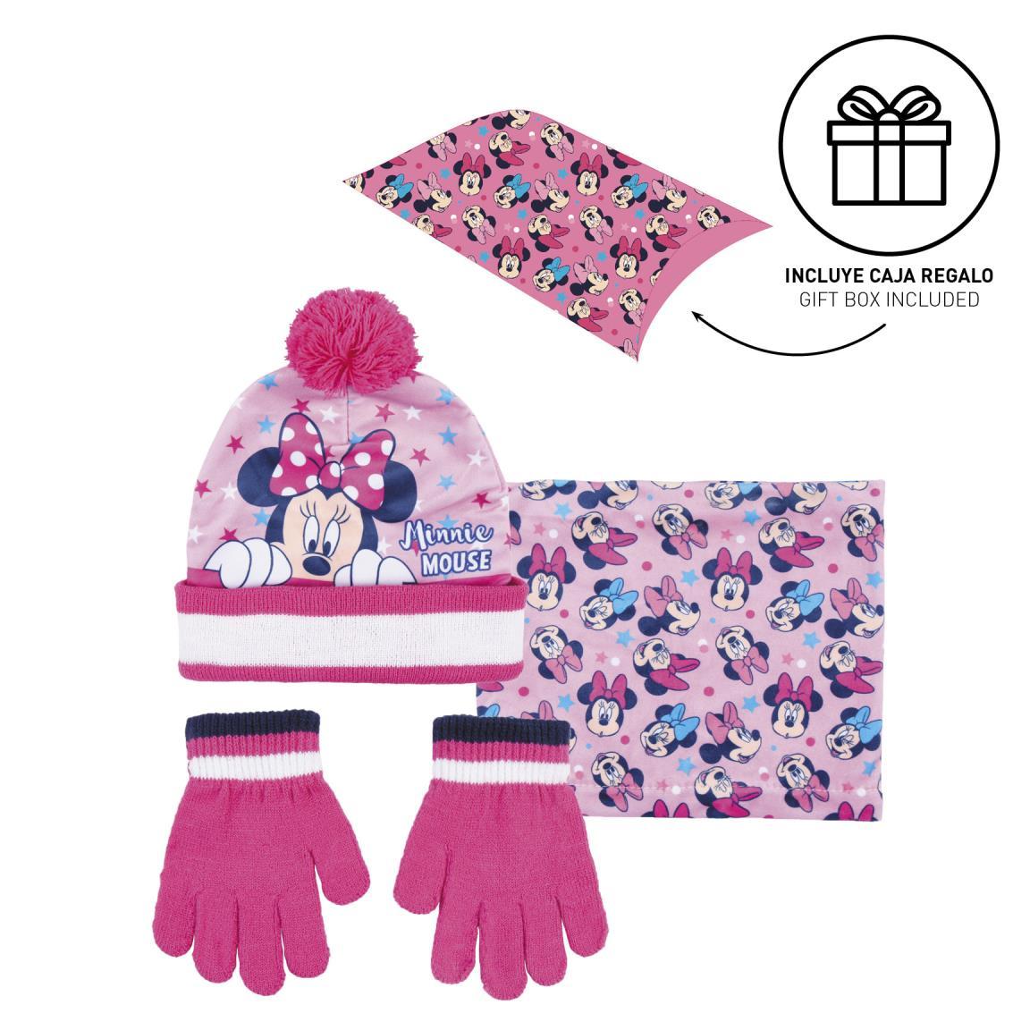 Cappello con Scaldacollo e guantini Minnie Veste da 3 a 8 Anni Inverno 2021-22