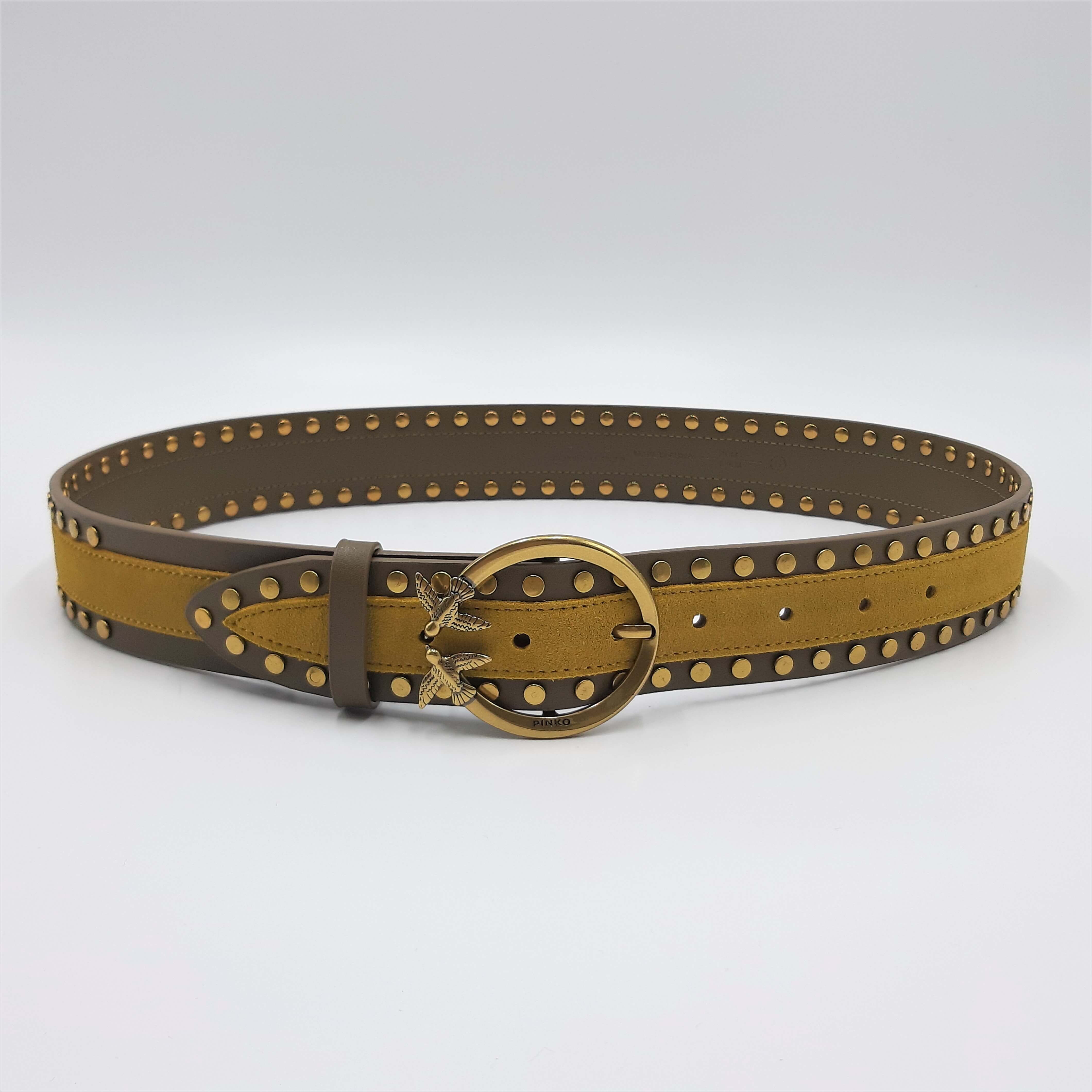 Cintura Love Mix Leather Belt H4 Pinko