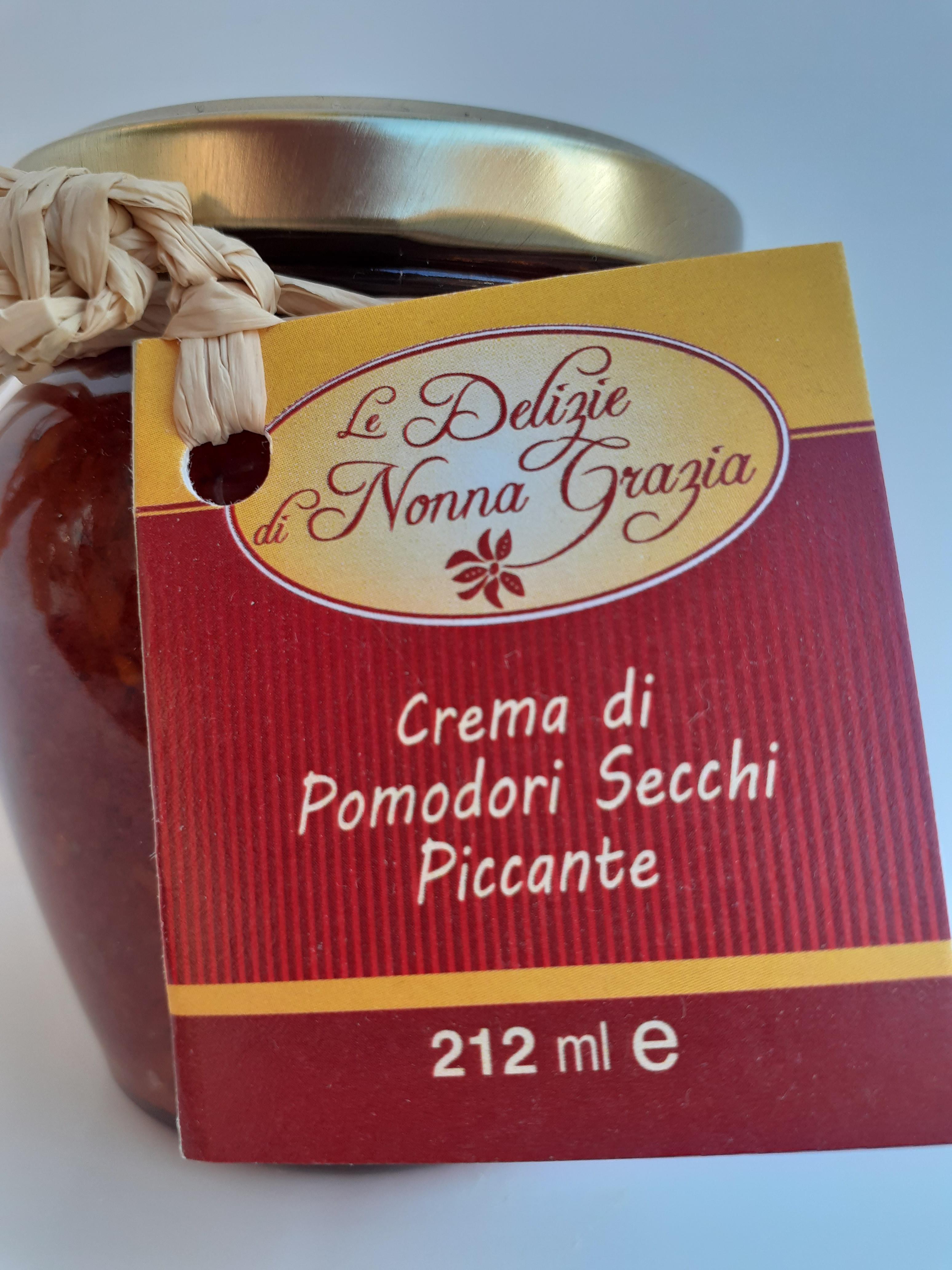 Crema di Pomodori Secchi Piccante peso netto 190 gr Azienda Tremuse Melia di Scilla (RC)