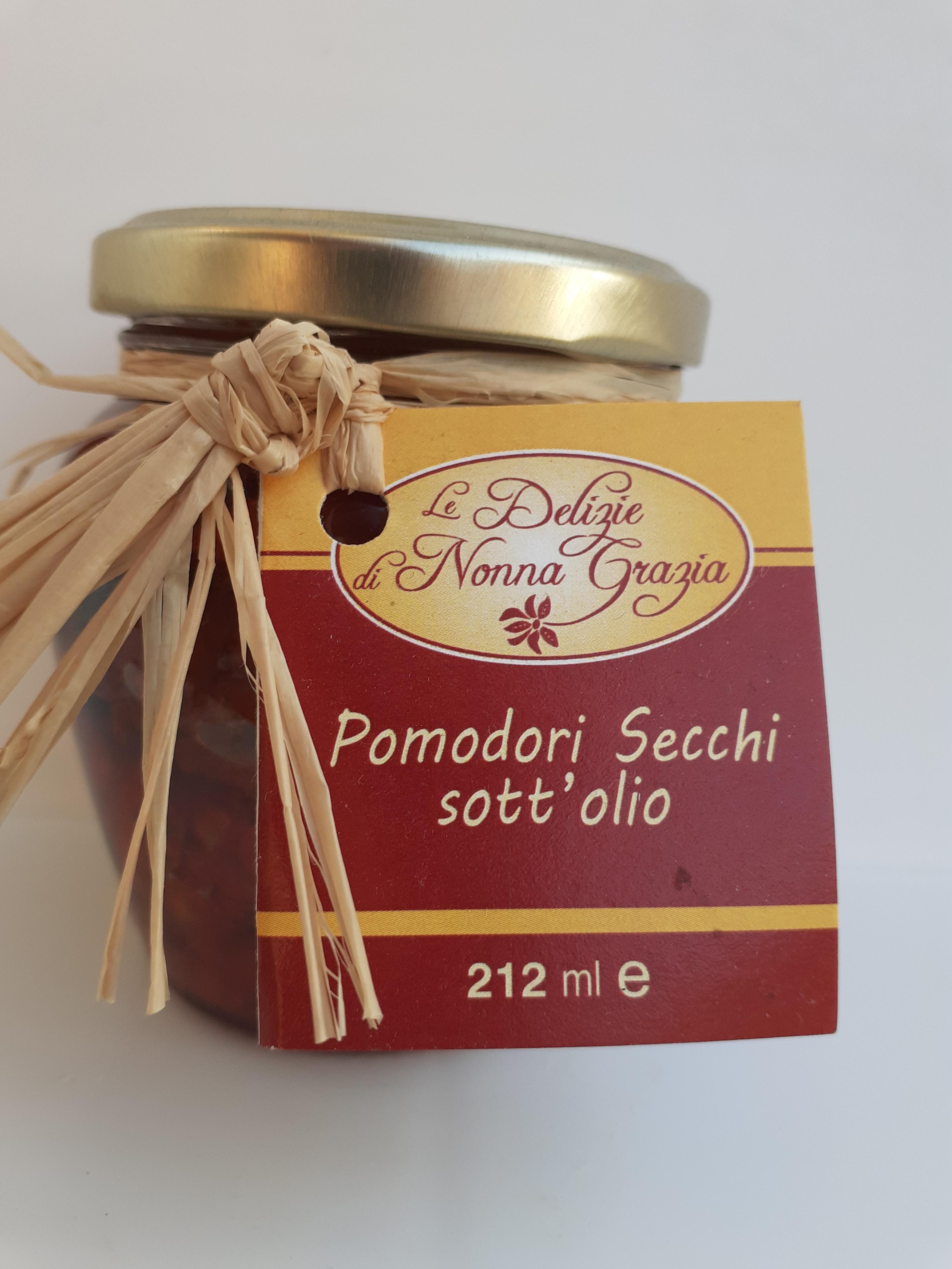 Pomodoro Secco Sott'olio Peso Netto 210 gr Azienda Tremuse  Meli di Scilla (RC)