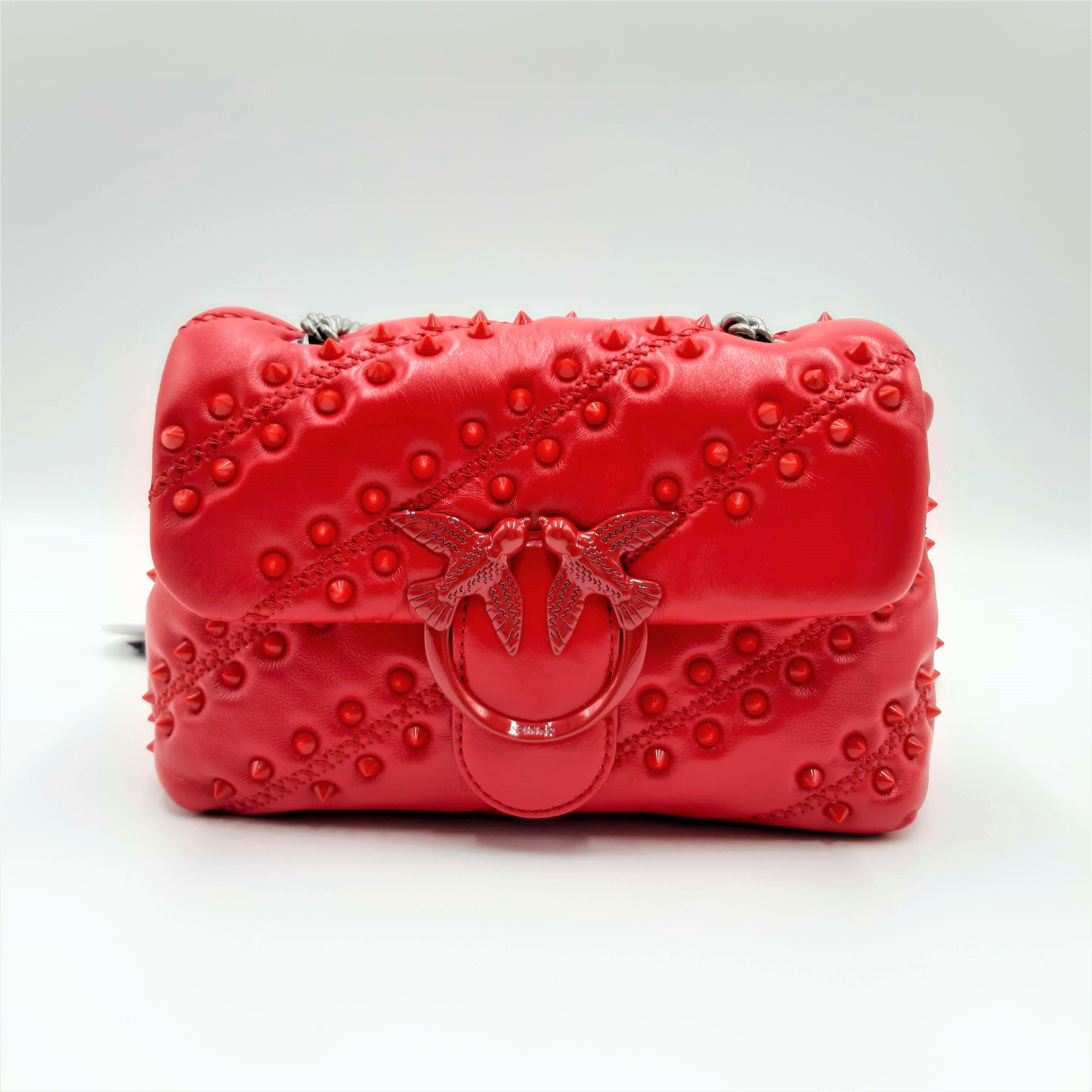 Borsa Love Mini Puff Soft Studs CL rossa Pinko