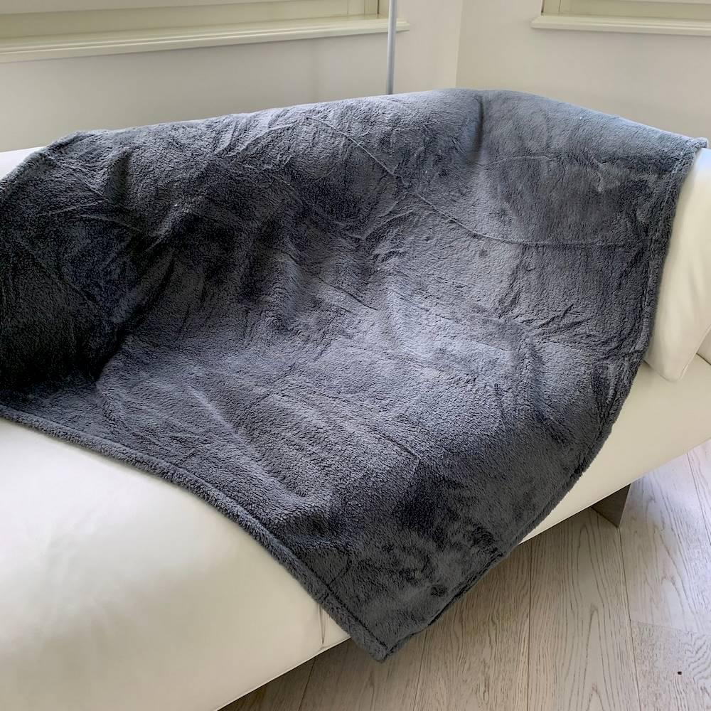 Plaid Soffice grigio scuro 130 x 160