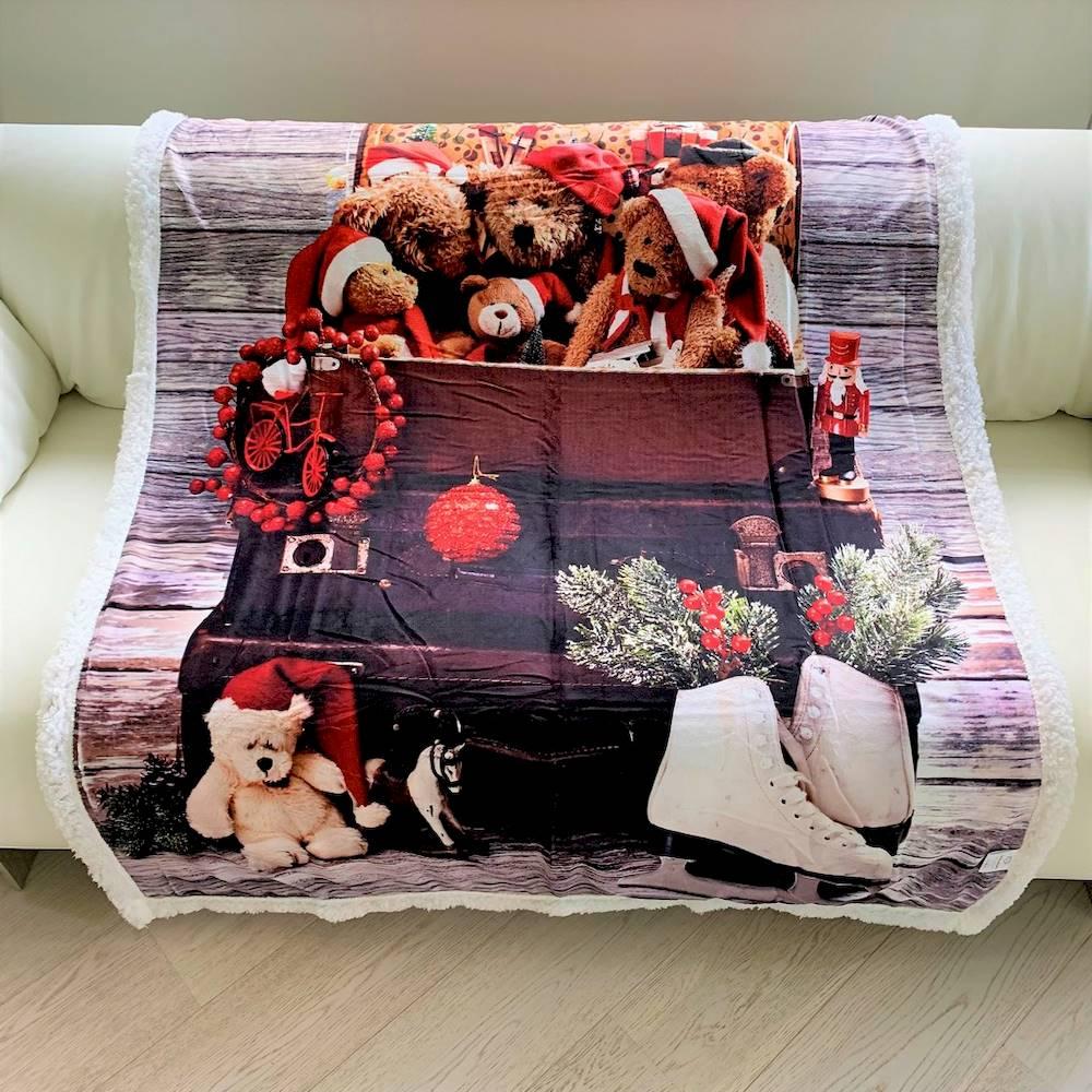 Plaid stampa digitale twins bears 130 x 160