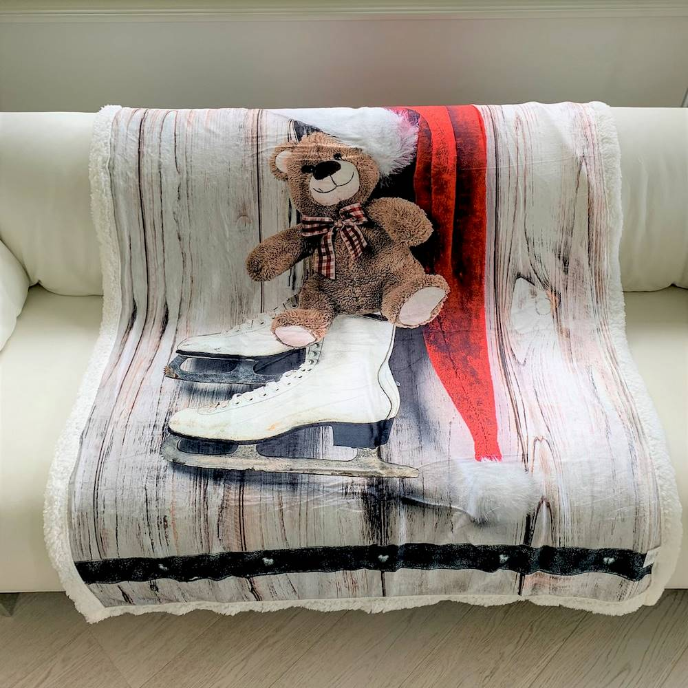 Plaid stampa digitale roller bear 130 x 160