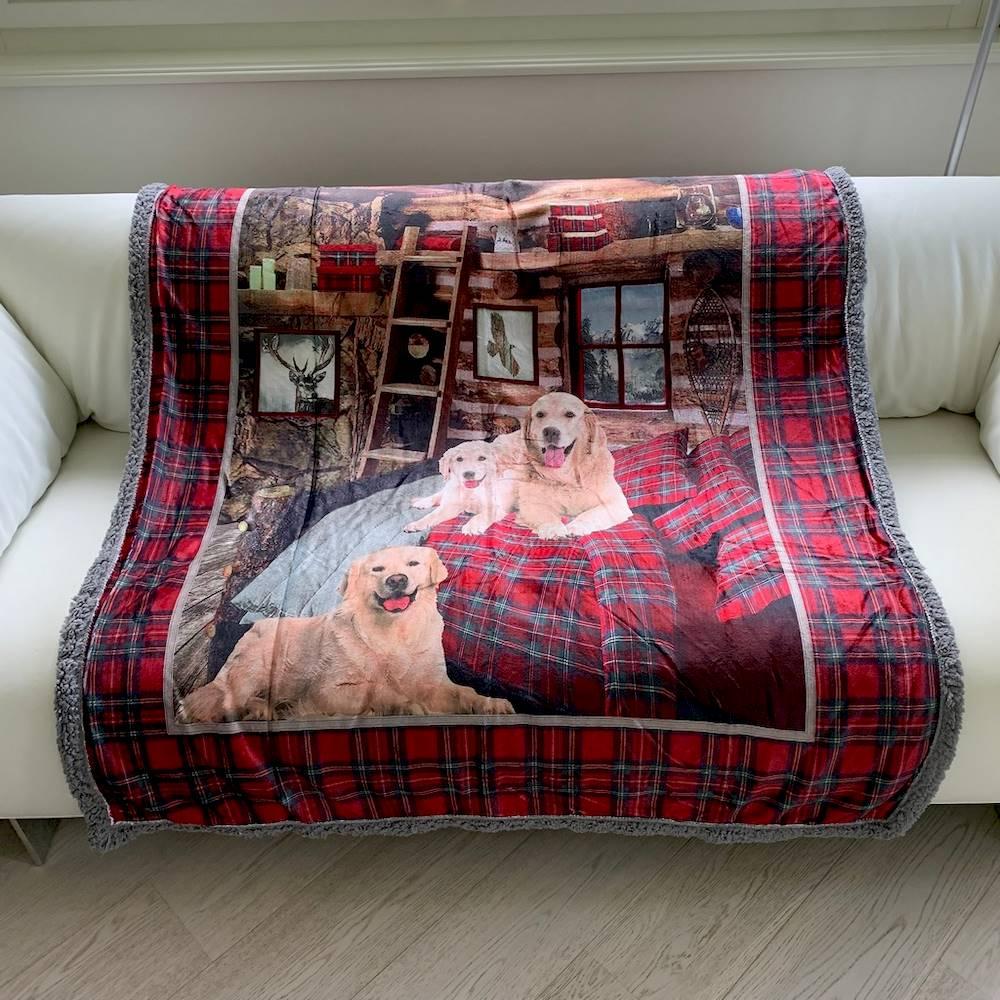 Plaid stampa digitale cani 130 x 160